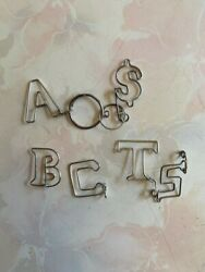Symbol Keychain Ornaments, Handmade From Steel Wire About 3 Cm By 3cm