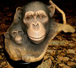 Rick Cain Cameo Magestic Cradle Limited Edition 161/2000 Monkeys 1991