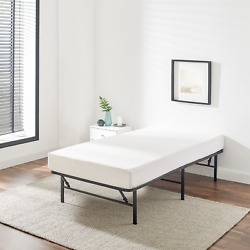Mainstays 14 High Profile Foldable Steel Bed Frame, Powder-coated Steel, Twin
