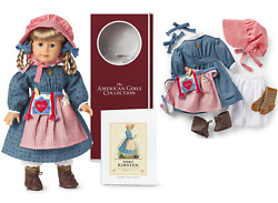 American Girl Kirsten Doll + Swedish Meet Outfit Book Necklace Spoon 35th Yr Box
