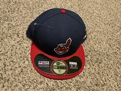 New Era Mlb Cleveland Indians Post Season 2013 Fitted Hat 59fifty Size 7 1/2