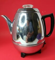 Vintage General Electric Ge Coffee Percolator 18p40 Pot Belly 9 Cup 100 Works