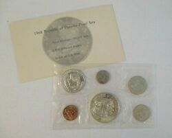 Sealed 1968 Republic Of Panama Proof Set Us Mint 2 Silver Coins Uncirculated Coa