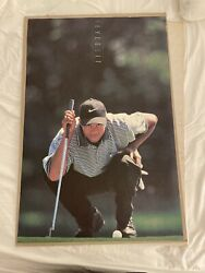 1997 Nike Tiger Woods The Eyes Have It Poster Golf 23x35 Rookie Rc Vintage Golf
