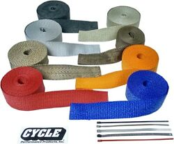 Cycle Performance Exhaust Pipe Wrap 2x50 Red