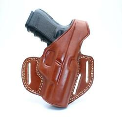 Leather Three Slot Pancake Concealed Carry Holster Walther P38 9mm 4.9 1228