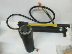 Omega Lift 60253, 25 Ton Hydraulic Hand Pump And Ram For Shop Press