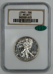 1940 Proof Walking Liberty Half Dollar 50c Ngc And Cac Certified Pf 67 013