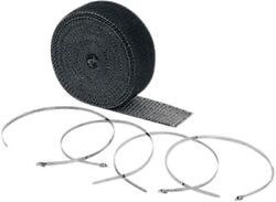 Accel Black - 2in. X 25ft. High-temperature Exhaust Wrap Kit