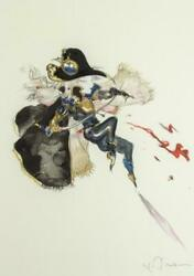 Yoshitaka Amano Cute Collection 2006-1 Giclee Signed Framed W/ Certificate Ltd.