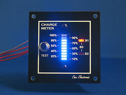 12v Charge Meter - Bar Graph Voltmeter For Boat Rv - Monitor Up To 3 Batteries