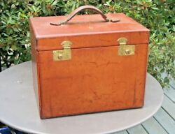 Antq Portable Leather Travel Bar Bartender Cigar Crouch And Fitzgerald Ny Man Cave