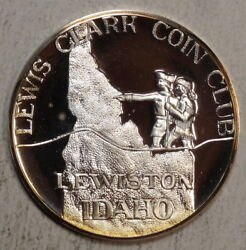 Commemorative Silver Round, Port Of Lewiston, Id 1975, Lewis And Clark 0720-06