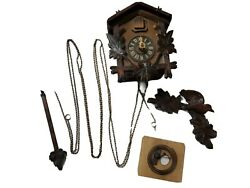 Vtg West Germany Cuckoo Clock Not Working For Parts No Weights