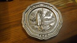 Rr2  Vintage Décor Pewter Plate  Taiwan Valley Forge 1777