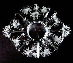Fostoria Glass 329 Lido Etched Baroque 2496 Round Handled Cake Platter Plate