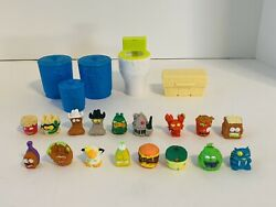 Grossery Gang Garbage Can Flush Fizz Toilet Trash Pack Containers Figures Lot