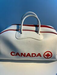 Vintage Air Canada Airline Flight Bag 60s Vinyl Carry On Duffle Luggage Travel