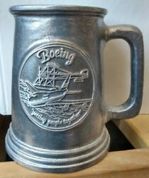 Boeing Getting People Together Pewter Tankard Mug Int Molders And Allied Workers