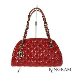 Matrasse Wchain Silverhardware Red Cross Body Bag From Japan