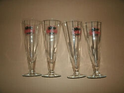 Rare Hoff - Brau Beer Glass Set Of 4 From Fort Wayne Indiana See Pictures