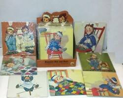 Raggedy Ann And Andy Set Of 8 Ribbon Wall Hangings New