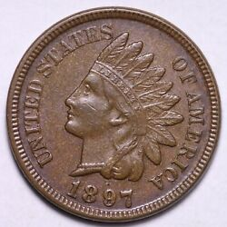 1897 Indian Head Cent Penny Choice Unc Free Shipping E558 Dnm