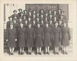 Wwii Us Navy Waves Women In Uniform Vintage Military Group Photograph