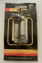 Vintage Mr.gasket 2pc Chrome Tire Valve Long Style 1956 - Fast Shipping