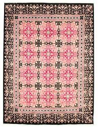 Ecarpetgallery Hand-knotted 8'0 X 10'4 Wool Area Rug In Dark Pink
