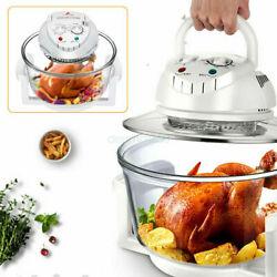 12l Electric Air Fryer Convection Oven 360° Vertical Heating Glass Roaster