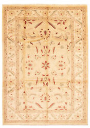 Vintage Geometric Hand-knotted Carpet 9'7 X 13'6 Traditional Wool Area Rug