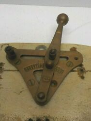 Rare Vintage Brass Boat Throttle Control Lever Cw Nautical Collectable Shifter