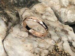 Official Welsh Clogau 9ct Rose Gold 4mm Windsor Wedding Ring £100 Off Size S