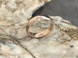 Official Welsh Clogau 9ct Rose Gold 5mm Windsor Wedding Ring £200 Off Size S