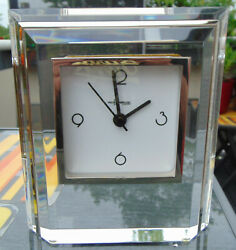 Acrylic Clock From Paco Dominguez With Silver-plated Messingleiste New Battery