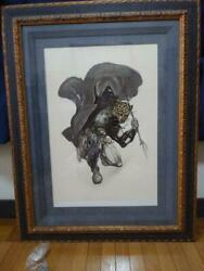 Yoshitaka Amano Wind Tooth The Guin Saga Framed Signed W/ Certificate Limited