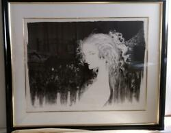 Yoshitaka Amano The End Of Sadness Lithograph Framed Signed W/ Certificate Ltd.