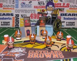 15-pc Nfl Teenymates Cleveland Browns Figure And Accessory Set 2qb/2rb/wr/lb/lm+