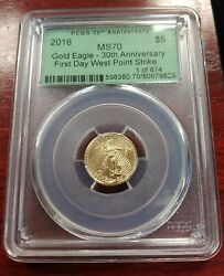 2016 5 Gold Eagle Anacs Ms70 First Day West Point Strike 30th Anniversary