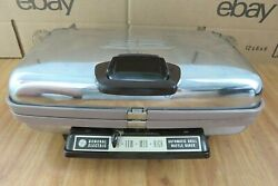 Vintage General Electric Ge Automatic Grill Waffle Iron Griddle 14g44t