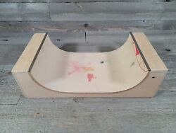 Rare Tech Deck Wood Sk8 Parks Real Wood Half Pipe Ramp Spin Master 2011