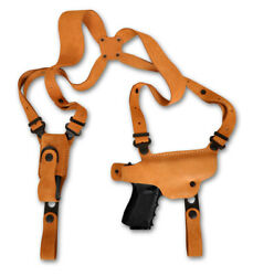 Suede Leather Shoulder Holster Single Mag Fits Walther P38 9mm 4.9andrsquoandrsquobbl 1228