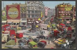Postcard London Piccadilly Circus Transport Advertising Coca Cola Guinness