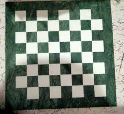18 Green Marble Chess Antique Table Top Game Inlay Lapis Malachite Room Gfb
