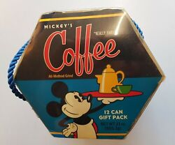 Mickey's Really Swell Coffee 12 Can Gift Pack Vintage Sealed Cans Nos Theme Park