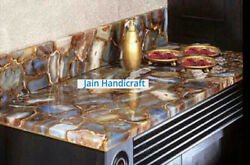 36x18and039and039 Dining Coffee Center Marble Table Top Inlay Agate Decor Home Room K4
