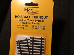 Micro- Engineering 14-718 Ho Ladder Track System Turnout Lh 5e Code 83