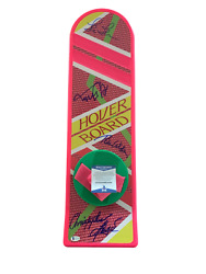 Michael J Fox + 3 Signed Autograph Cast Hoverboard - Back To The Future Bas 14