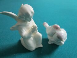 Lladro Spain Ornament First Christmas Together And Praying Hummel Angel Lot